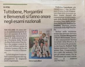 Articolo di stampa del Tirreno