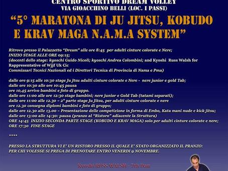 5° MARATONA DI JU JITSU, KOBUDO E KRAV MAGA N.A.M.A. SYSTEM