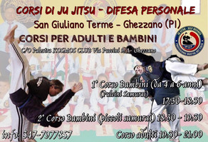 Riaprono i Corsi di Ju Jitsu - Difesa Personale per Adulti e Bambini c/o palestra Kosmos Club