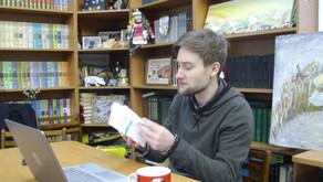 Ян Выговский выступил в «Стихотворном бегемоте»
