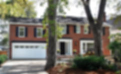 updated colonial brick home