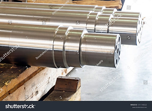 stock-photo-new-shaft-on-the-rack-after-