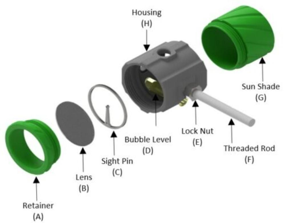 "Details about  /SRP 3D Customs 1-3//8/"" Archery Scope Sight Target Indoor Custom Color 3D"