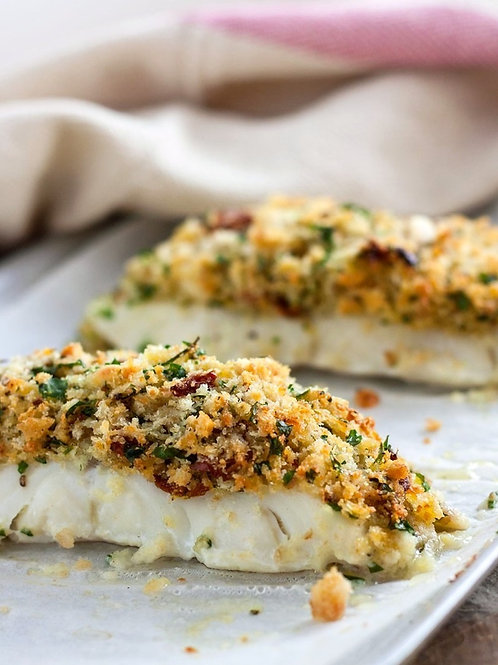 Valentine's Dinner for Two -Herb Crusted Cod