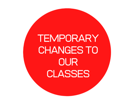 Our coronavirus policy - and changes to group classes
