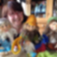Franziska Lienberger the face behind all her felting curiosities.Felting courses are held at her home in the west of Ireland.Come along to any of the felting courses that go on all year round .Learn to wet felt and create a fairy or a Gnome.