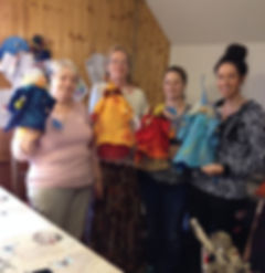 4 ladies who created felted fairies during a workshop in Ballinameen,Boyle co.Roscommon