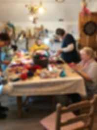 Enjoy each others company during a felting course with irish felt fairy