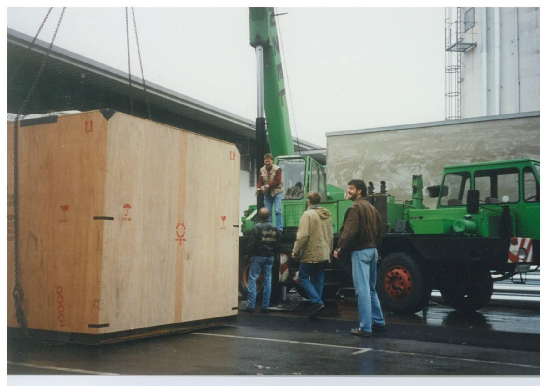 2 Tonnen Laser werden verschoben