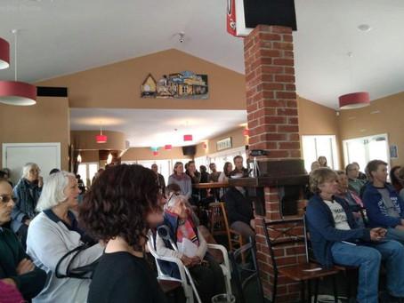 Regenerative Agriculture Seminar draws large crowd.