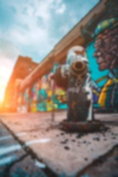 Fire Hydrant and Graffiti