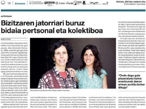Clipping prensa 'AZTARNAK-HUELLAS'.