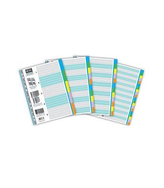 Ευρετήριο Χρωματιστό Χάρτινο 5 Φύλλα Α4 Skag