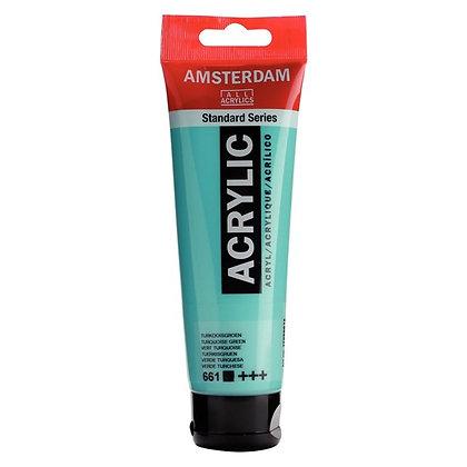 Amsterdam Acrylic Paint 120ml Turquoise Green