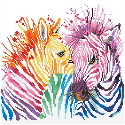 Diamond Dotz Rainbow Zebras