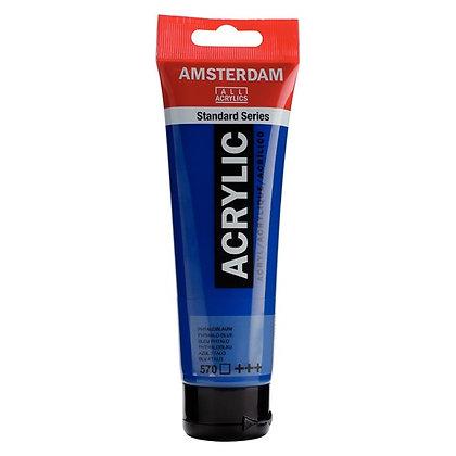 Amsterdam Acrylic Paint 120ml Phthalo Blue