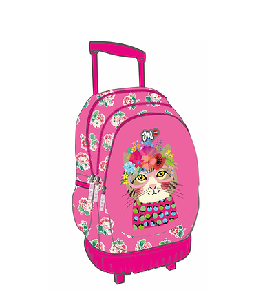 ONE LYC TROLLEY BAG FLOWER CAT (LO01247)