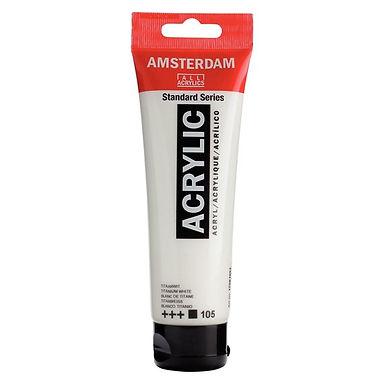Amsterdam Acrylic 120ml Titanium White