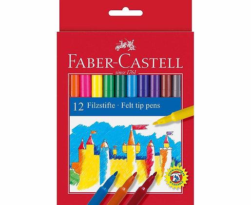 Faber Castell Fibre Tip Pens Box Of 12