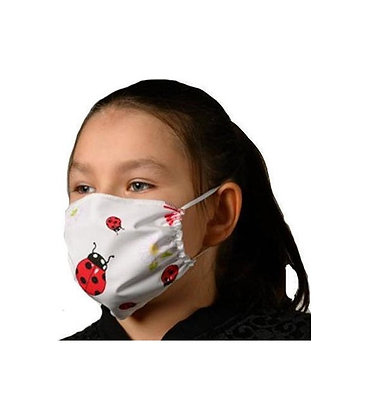 Βαμβακερή μάσκα με Παπαρούνες