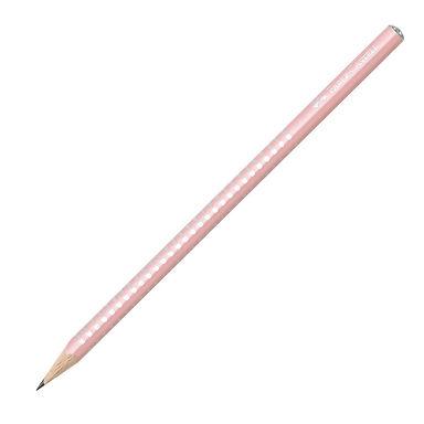 Μολύβι Faber Castell grip sparkle ροζ παστέλ