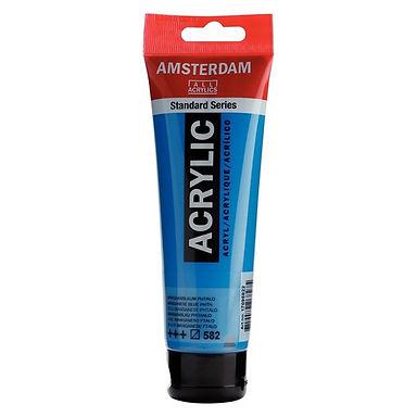 Amsterdam Acrylic Paint 120ml Manganese Blue Phthalo