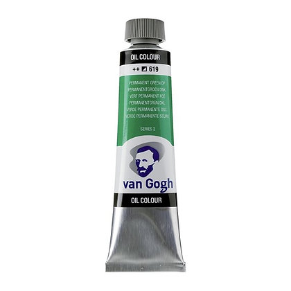 Van Gogh Oil Colour 40 ml Permanent Green Deep 619
