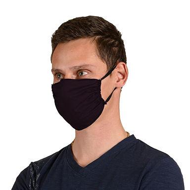 Βαμβακερή μάσκα (μαύρο χρώμα)