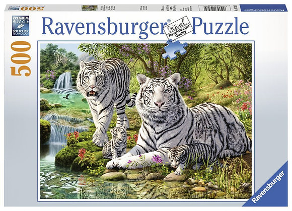 WHITE TIGERS PUZZLE 500 PCS