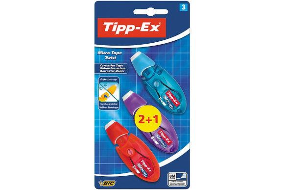 TIPP-EX Micro Tape Twist 5mmx8m blister 2 + 1 free