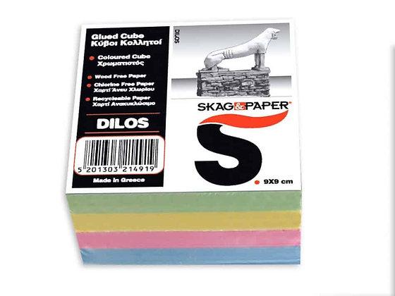 Χρωματιστοί Κύβοι Σημειώσεων Κολλητοί Skag