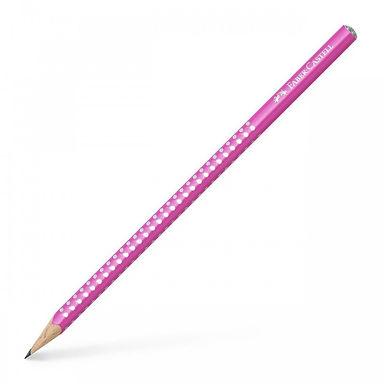 Μολύβι Faber Castell grip sparkle ροζ