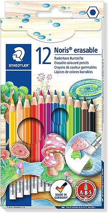 STAEDTLER NORIS ERASABLE 12 COLOURS