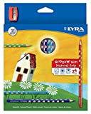 LYRA - 24 GROOVE SLIM COLOURED PENCILS - SCHOOL ART