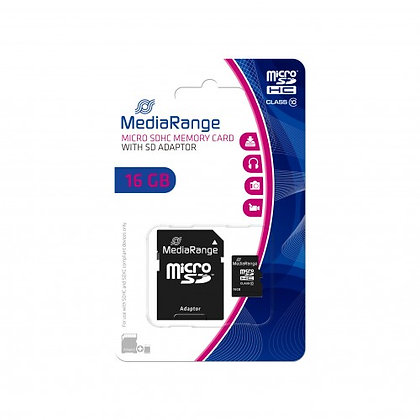 copy of MEDIARANGE microSDHC Card - 8GB - Class 10 - with SD Adapter