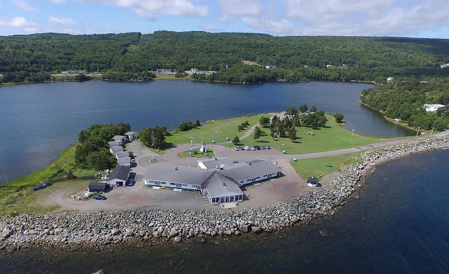 Cape Breton, Nova Scotia motel / hotel / cabins situated on a 7-acre peninsula with beautiful views!