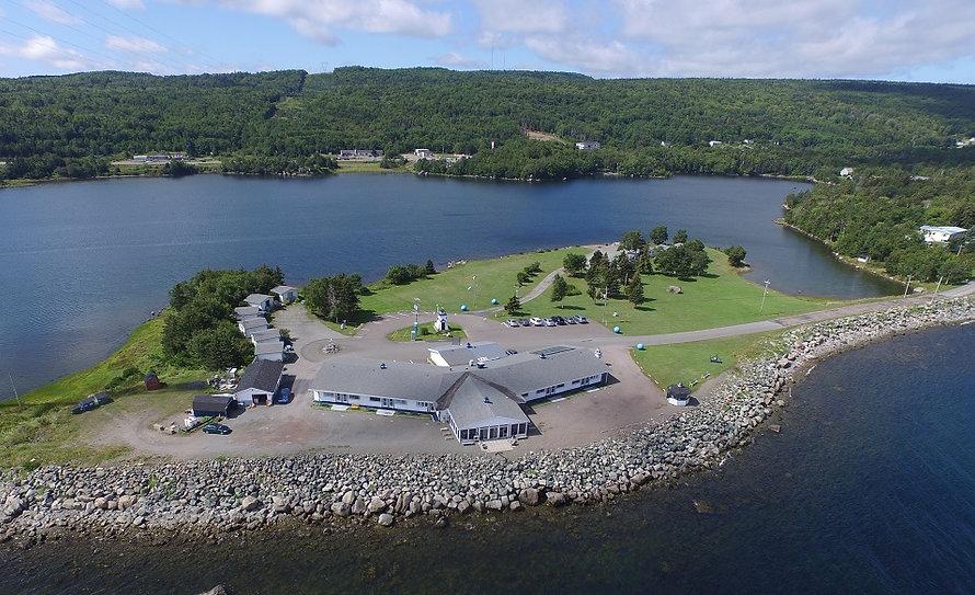 Cape Breton, Nova Scotia motel / hotel / cabins situated on a 7-acre peninsula with beautiful views!