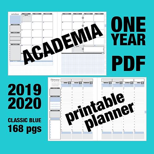 PDF: ACADEMIA (2019-2020) one year - Monday