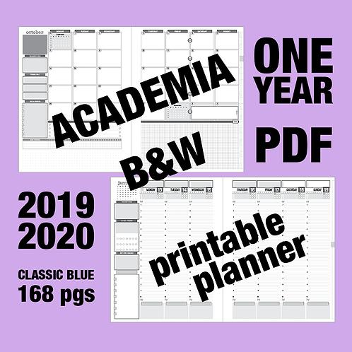 B&W PDF: ACADEMIA (2019-2020) one year - Monday