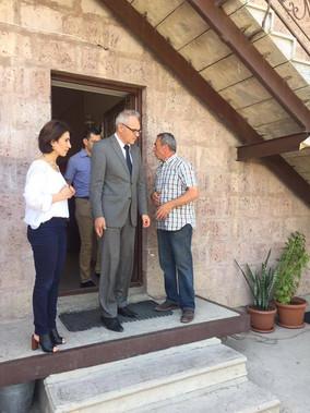Ambassador Extraordinary and Plenipotentiary H.E. Mr. Bernhard Matthias Kiesler visits Debi Arach