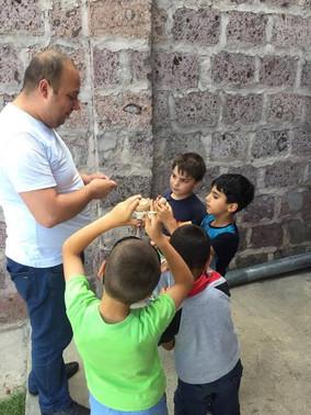 Local Gyumri Business Visits and Gives Back