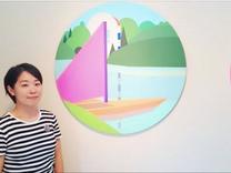 東浦和のギャラリーで現代美術家・原田郁さんの個展 仮想空間をカンバスに描く- 浦和経済新聞
