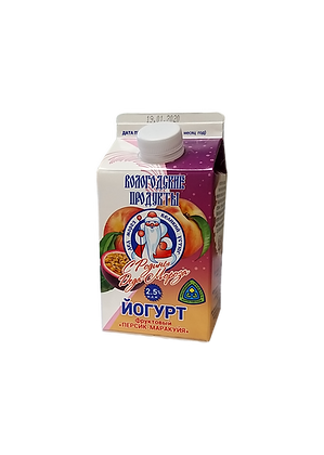 """Йогурт 2,5% фруктовый """"Персик-Маракуйя"""""""