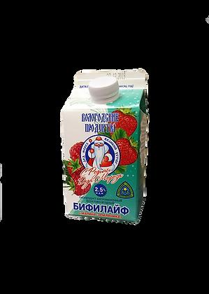 """Бифилайф фруктово-ягодный """"малина-земляника"""" 2,5%"""