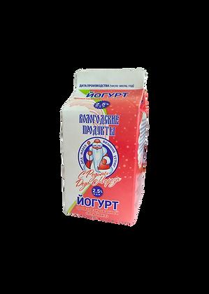 """Йогурт 2,5% ароматизированный """"Клубника"""""""