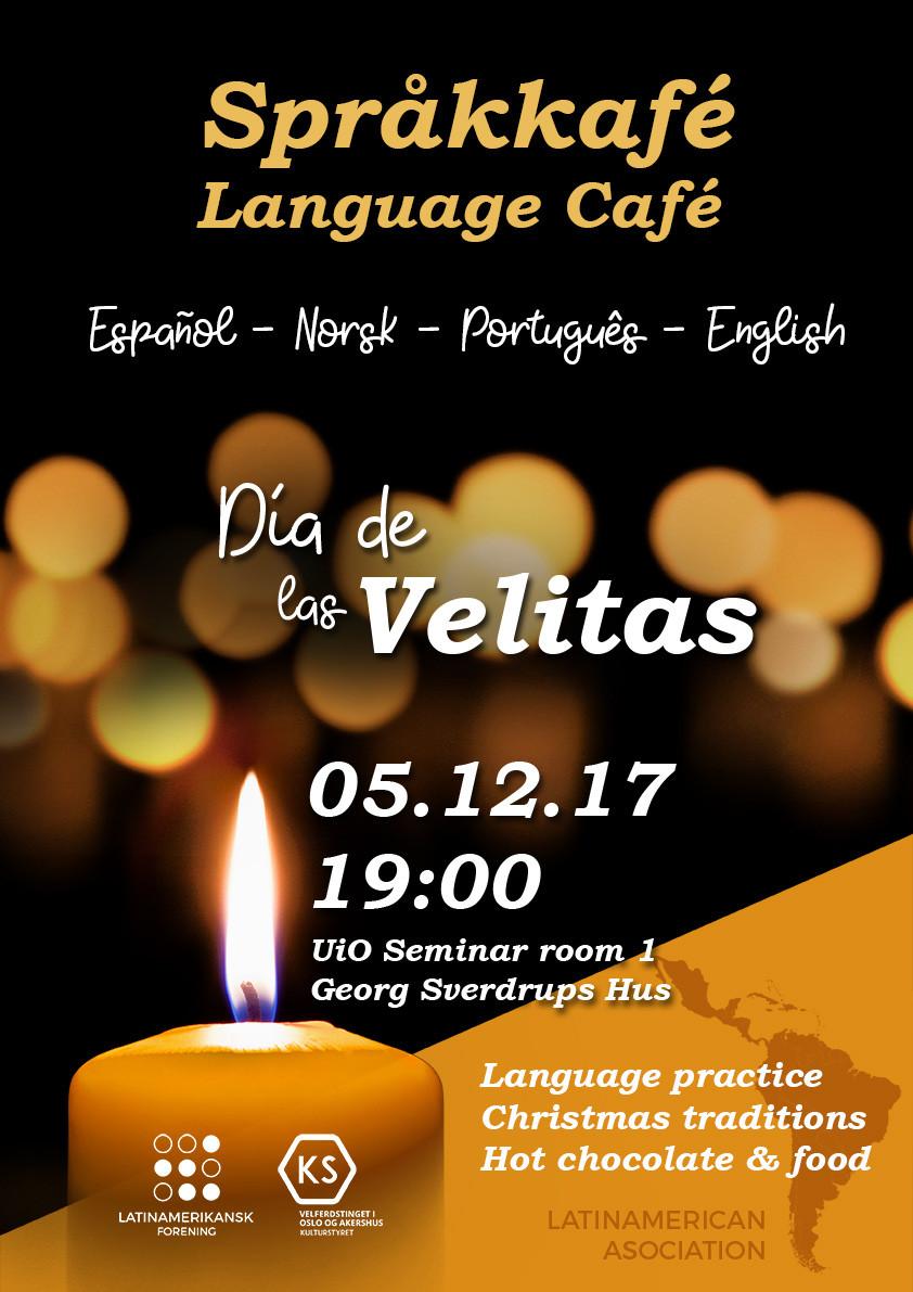 Latinamerikansk Forening LAF UiO Poster Design Dia de las Velitas Språkcafe