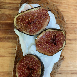 Honey Figs, Sourdough and Labneh