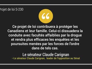 Commentaire du sénateur Claude Carignan sur le reportage de l'émission Découverte sur l'impact du ca