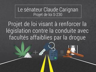 Projet de loi du sénateur Carignan pour protéger les Canadiens contre les conducteurs sous l'effet d