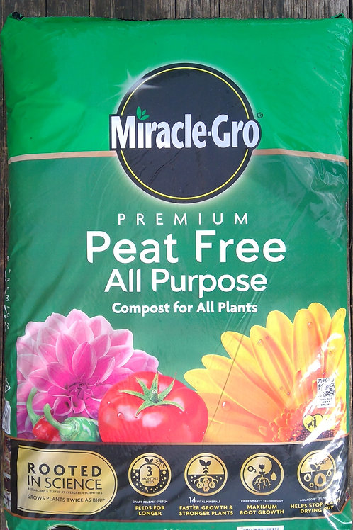 Miracle Gro Peat Free Multipurpose Compost 40Ltr